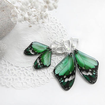 Mother daughter gifts Mommy and me earrings set Butterfly earrings Mint earrings resin jewelry gift Birthday gift for daughter Sister gift