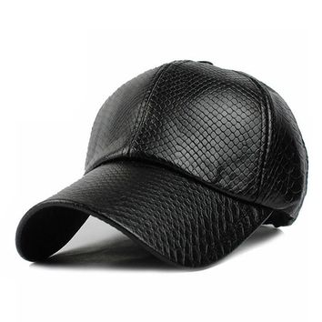Texture Trucker Leather Hat Leather Cute, Graphic, Cool Baseball Cap