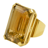 1950s gold and topaz ring