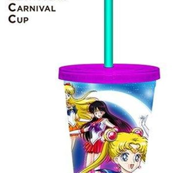 16oz OFFICIAL Sailor Moon PREMIUM Tumbler Travel Cup GIFT with Lid and Straw (BPA-Free)