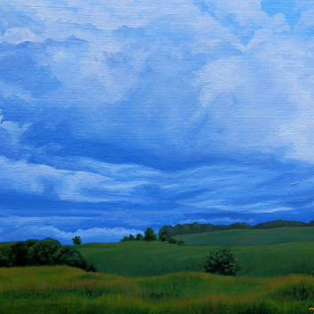 Original Oil Painting, Landscape Painting, 9x7 Wall Decor