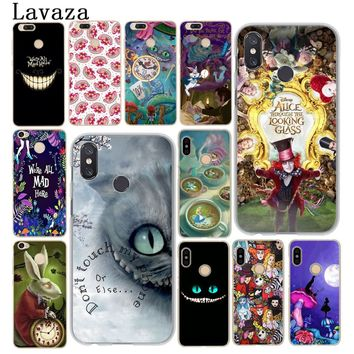 Lavaza Alice in Wonderland cat Hard Phone Case for Xiaomi MI A2 Lite A1 5 5X 5S 6 6X 8 SE MIX 2S Cover MiA2 MiA1 Mi8 Mi6