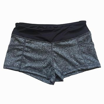 solid color skinny tight running short women s xl quick dry sport cool female fitness jogging shorts