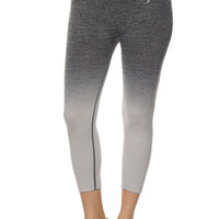 Grey Ombre' Premium Seamless Capri Leggings