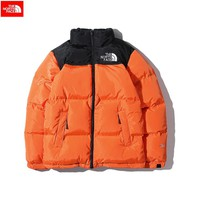 The North Face 2018 winter new tide brand men and women wear thick down cotton jacket Orange
