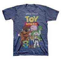 Men's Toy Story Group Shot T-Shirt Navy : Target
