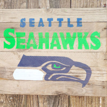 Ready to ship, Father's Day Gift, Seattle Seahawks Sign on Barn Wood