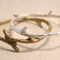 Autumn Jewelry   Bronze Branch Bangle by punkybunny300 on Etsy
