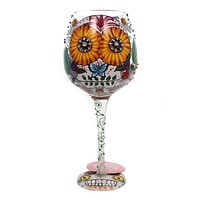 Tabletop SUGAR SKULL TWO Glass Love My Wine Glass 6000215