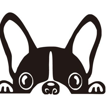 Funny French Bulldog Light Switch Vinyl Wall Decal