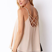 LOVE 21 Beaded Cutout Cami