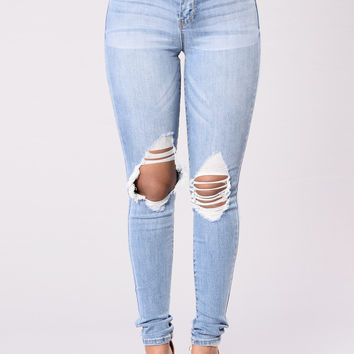 Love In A Bar Jeans - Light Stone Wash