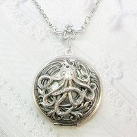 The Original Silver Octopus Locket by BirdzNbeez