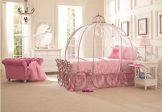 Disney Princess 6 Pc Twin Carriage From Rooms To Go Epic