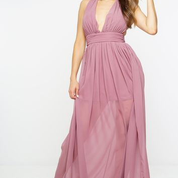 Zoey Maxi Dress - Dark Rose