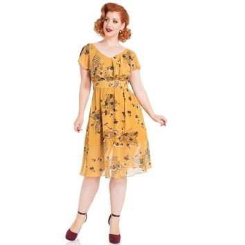 Yellow Posey Butterfly Dress