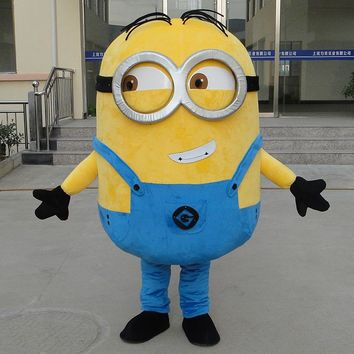 on sale! free shipping, Despicable minion mascot costume for adults despicable mascot costume