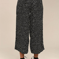Billabong Sunny Dazer Black and White Polka Dot Culottes
