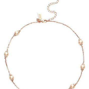kate spade new york 'pearls of wisdom' scatter collar necklace   Nordstrom