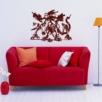 Anime decal, Anime Vinyl, Girl transformer Anime Stylish Wall Art Sticker 10347