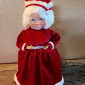Vintage mrs. claus doll