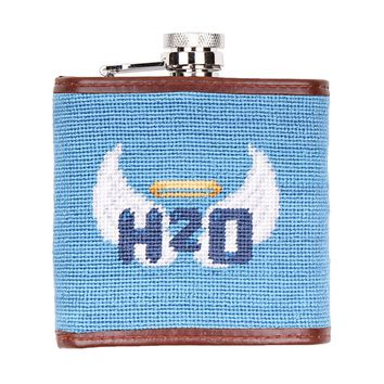 Holy Water Needlepoint Flask by Smathers & Branson