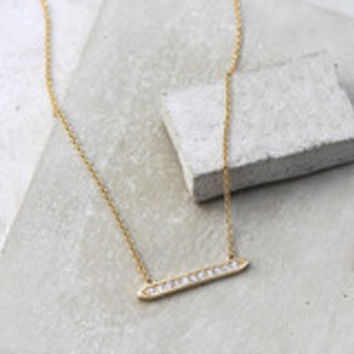 Be a Light Pave Bar Necklace