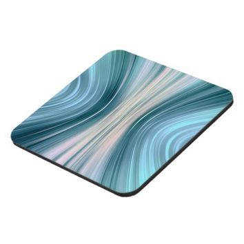 Aqua Turquoise Driving Dreams Plastic Coasters