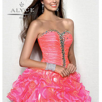 Sweetheart Ruched And Beaded Homecoming Dress Alyce 4323