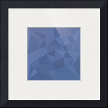 """Cornflower Blue Abstract Low Polygon Background"" by Aloysius Patrimonio"
