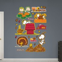 Peanuts Thanksgiving Collection Wall Decals by Fathead