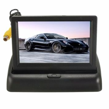 4.3 Inch LCD Monitor Wireless IR Night Vision Rear View Reverse Camera kit