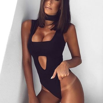 Arizona Sexy V Neck Bandage Bodysuit