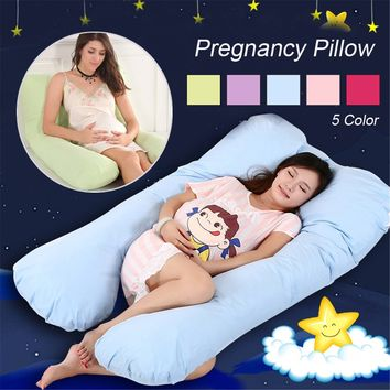 Maternity U Shaped Body Pillows Body Pregnancy Pillow For Side Sleeper Removable Cover Nursing Sleeping Body Support