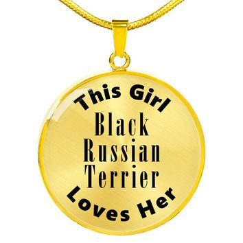 Black Russian Terrier - 18k Gold Finished Luxury Necklace