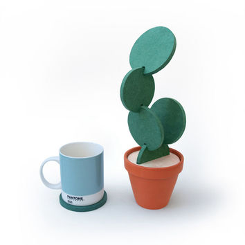Creative Detachable Cactus Coaster