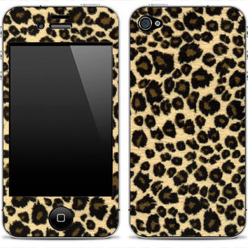 Leopard iPhone 4/4s Skin FREE SHIPPING