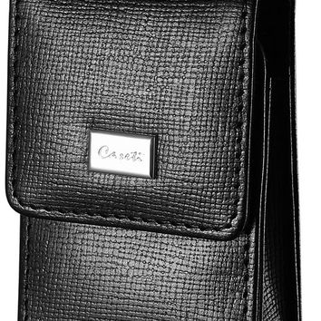 Caseti Black Leather Weave Pattern Lighter Case