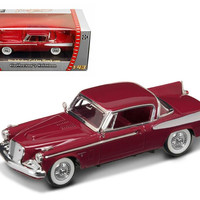 1958 Studebaker Golden Hawk Garnet-Burgundy 1-43 Diecast Car Model by Road Signature