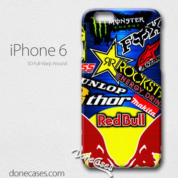 motocross redbull steel iPhone 4/4 Case, iPhone 5/5s/5c, iPhone 6 / iphone 6 plus case