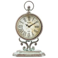 Antique Green Round Metal Table Clock with Stand | Shop Hobby Lobby