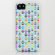 Anchors / Light background iPhone & iPod Case by Elisabeth Fredriksson