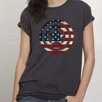 Captain America flag for Tshirt , Women ,Men