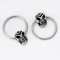 1pcs nose ring piercing jewelry Piercing horrible Skeleton skull head body jewelry