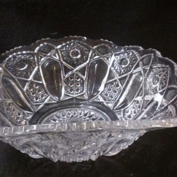 Pressed Glass Fruit Bowl  (644)