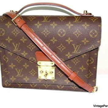 VLX9RV Vintage Louis Vuitton Monceau Cross Body Bag
