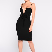Beatrice Corset Dress - Black