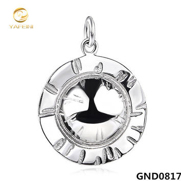 gnd0817 genuine 925 sterling silver cubic zirconia hat pendant s925 wedding