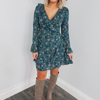 Something Just Like This Dress: Teal/Multi