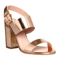 Office Garland Strappy Block Heel Rose Gold - High Heels